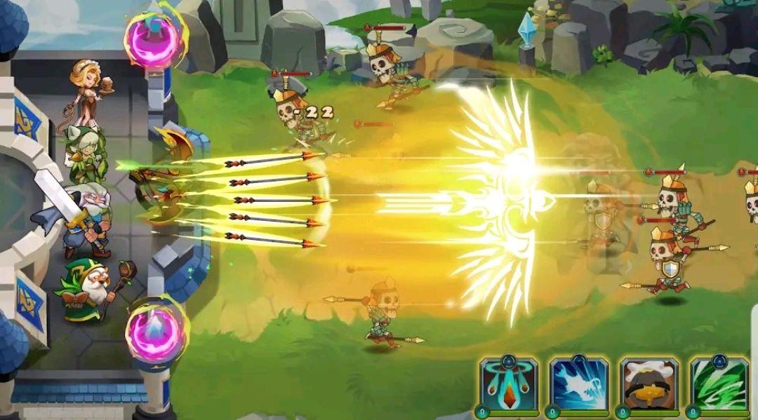 Juego gratis android - Castle Defender Premium: Hero Idle Defense TD