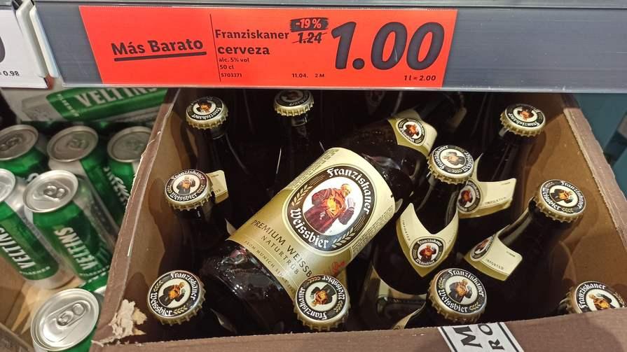 Cerveza Franziskaner en Lidl
