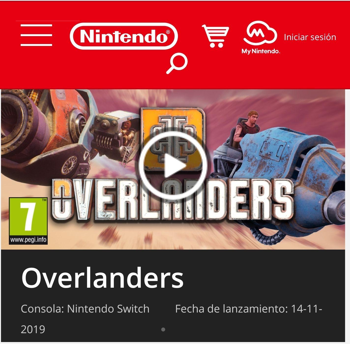 Overlanders Nintendo Switch