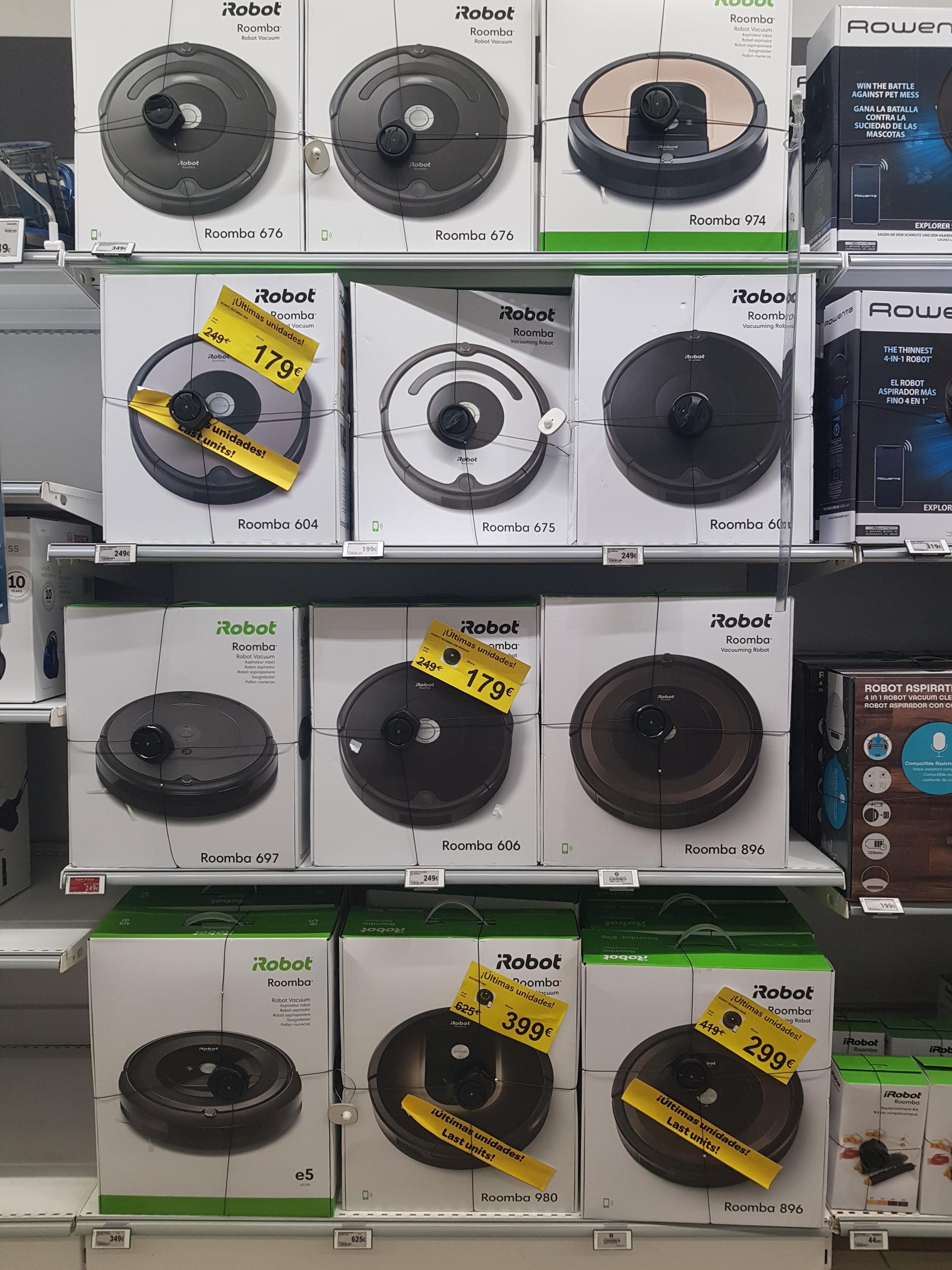 iRobot Roomba 604 y 606 a 179€, 896 a 299€, 980 a 399€