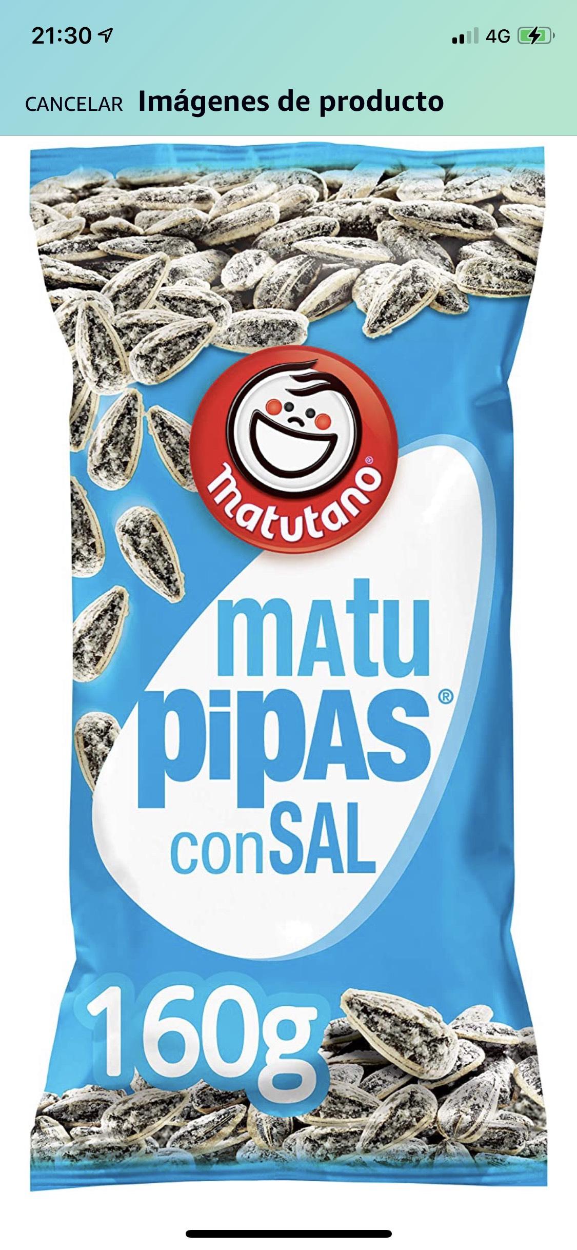 Pipas con sal Matutano Visto en el Sqrups! Dr. Esquerdo (Madrid)