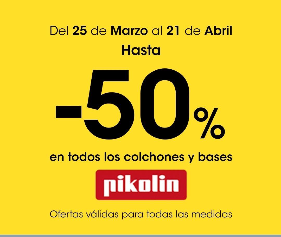 50% de descuento en productos Pikolin