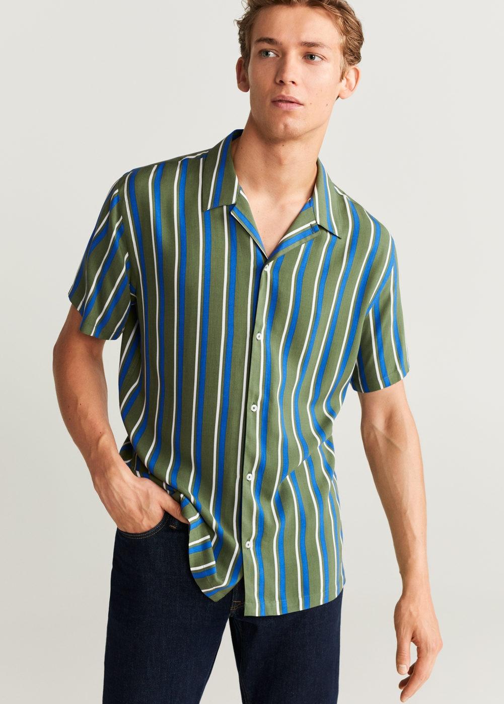 Camisa de rayas MANGO fresquita
