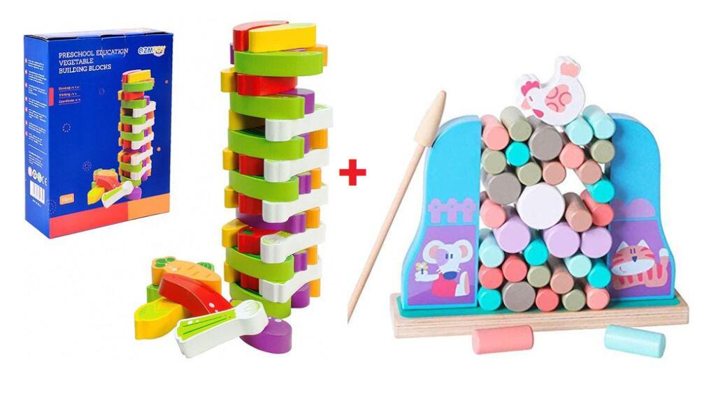 2 Juguetes de madera para niñ@s (añadir los 2)
