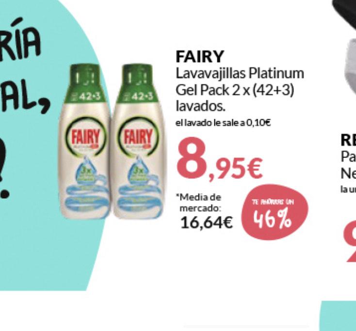 2 botellas Lavavajillas Fairy en Primaprix