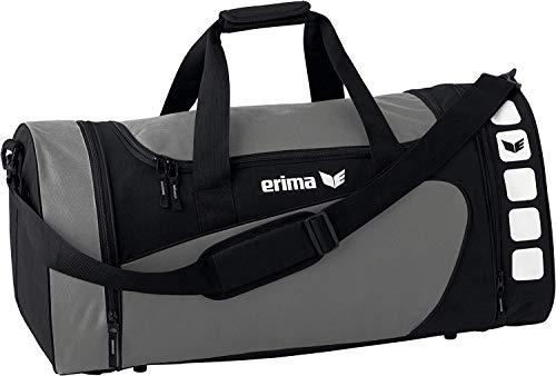 Erima, Bolsa de Deporte, con bolsillo lateral, color Granito/Negro