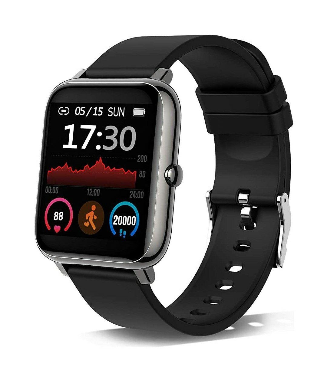 Smartwatch, Reloj Inteligente con Pulsómetro, Cronómetros, Calorías, Monitor de Sueño, Podómetro Pulsera Actividad Inteligente Impermeable