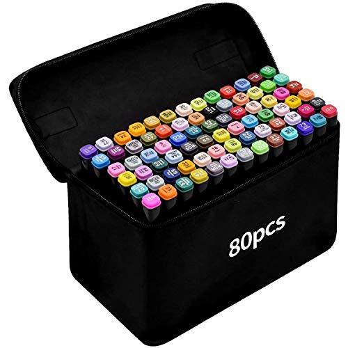 Rotulador de 80 Colores Marker Pen Marcadores