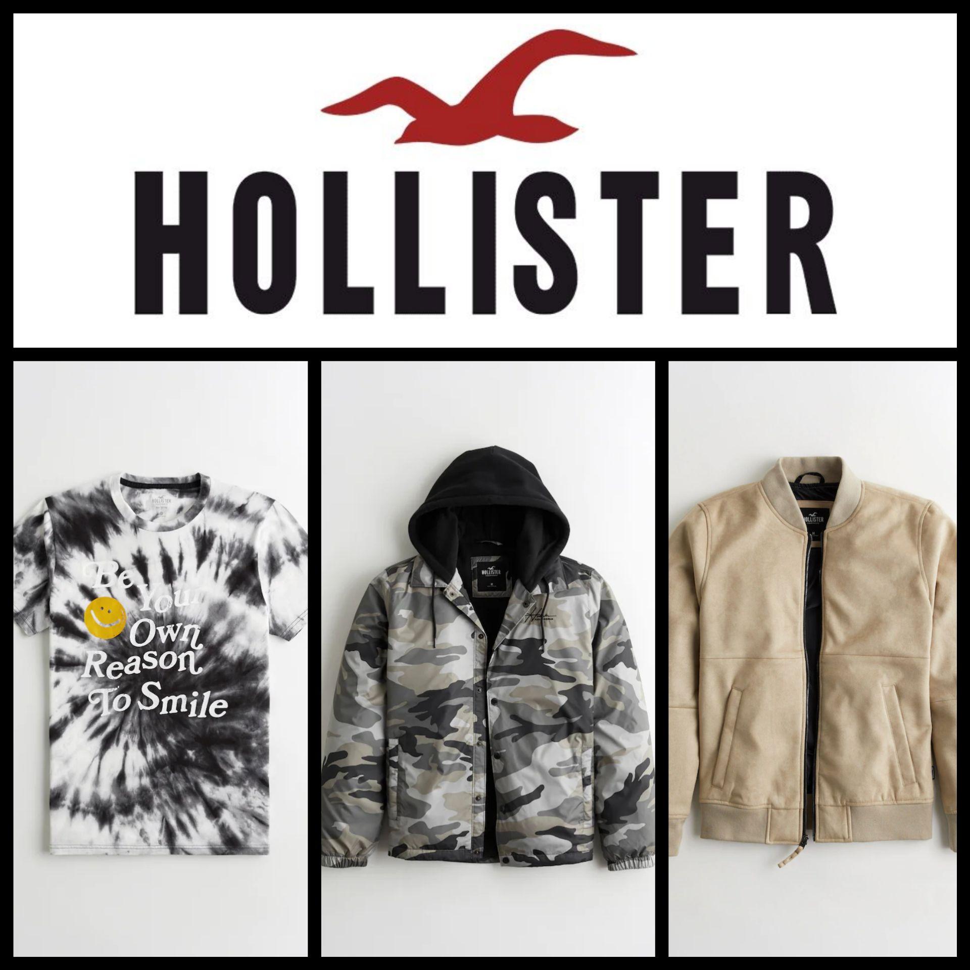 Recopilación Camisetas y Chaquetas Hollister para Hombre