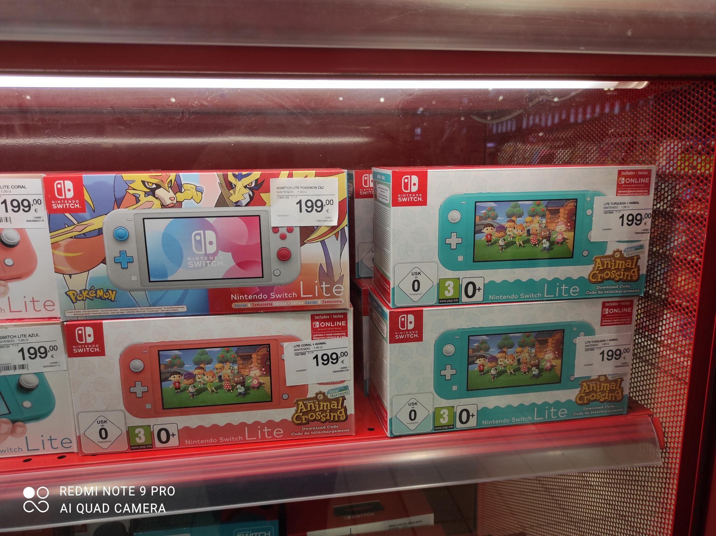 Nintendo switch lite + animal crossing + 3 meses online