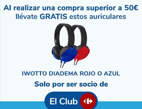 Auriculares de regalo con el Club Carrefour al gastar 50€
