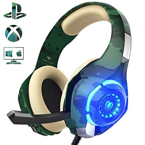Auriculares Gaming para PS4 Xbox One Nintendo Switch, GM-100 Cascos Gaming con Sonido Envolvente y Reducción de Ruido.