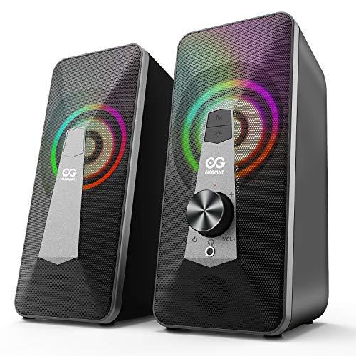 Altavoces Sobremesa, Bluetooth Gaming con USB, Modo Cable y Inalámbrico.