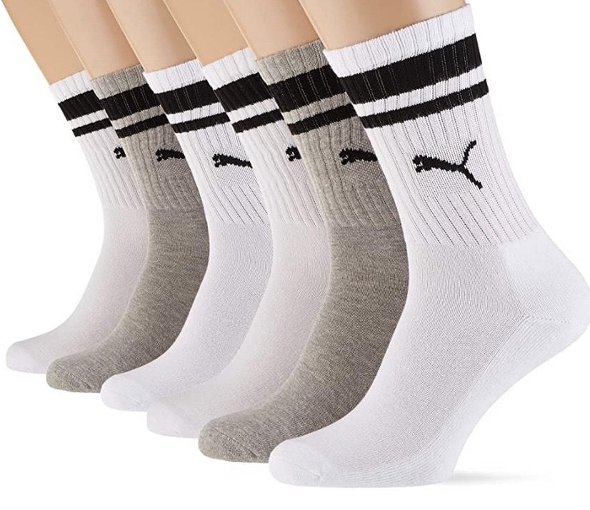 Pack de 6 pares de calcetines Puma talla 35/38
