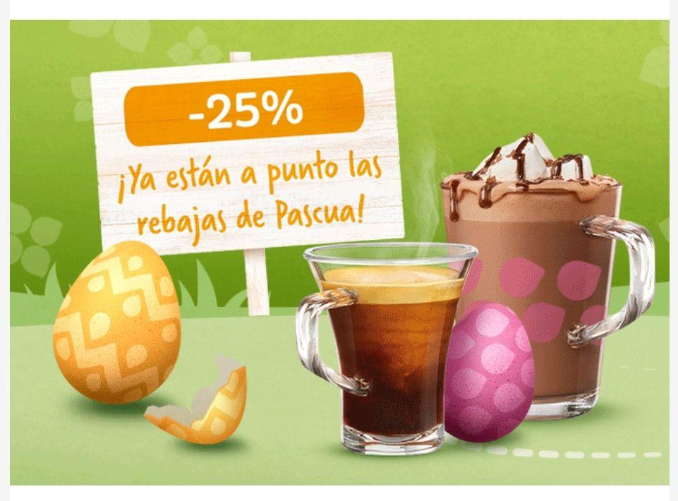 25% descuento Tassimo en bebidas