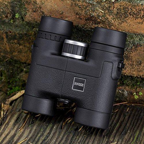 BNISE® - 8x32 Prismáticos Compacto y ligero - Cuerpo de aleación de magnesio - Totalmente Recubrimientos ópticos múltiples y Fase Recubierto Prismas BAK-4 - Brillante y sin Distorsiones de Imagen - Negro