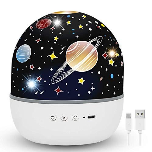Hepside Proyector Estrellas, Lampara Proyector Infantil, Romántica con 360°Rotación Proyector Estrellas Bebe