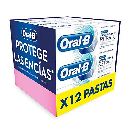 Oral-B Encías & Esmalte Pro-Repair Original Pasta de Dientes, Pack de 12, Protección Encías y Dientes Sensibles (12x75 ml)