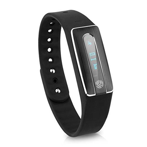Diggro HB02 - Ajustable Smartwatch Pulsera de Actividad para Android IOS (Impermeable IP67, OLED, Bluetooth 4.0, Podómetro, Ritmo Cardíaco, NFC, Monitor de Sueño, Llamada/Mensaje) (Negro)