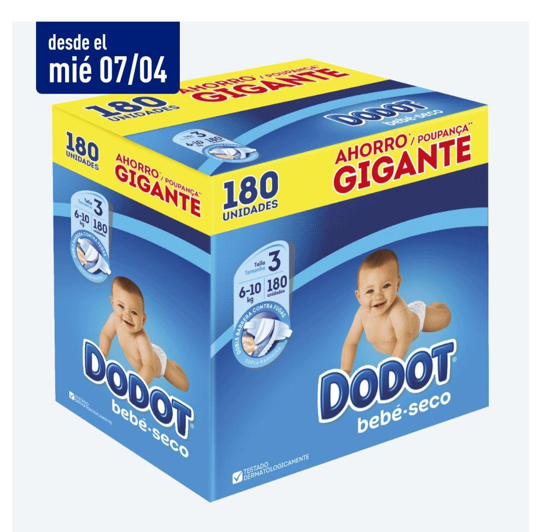 Megabox pañales dodot bebe seco talla 3, 4 y 5