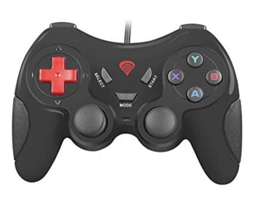 Natec Genesis P33 - Mando de Videojuegos para PC (2 Mini joysticks analógicos, 8 Controladores)