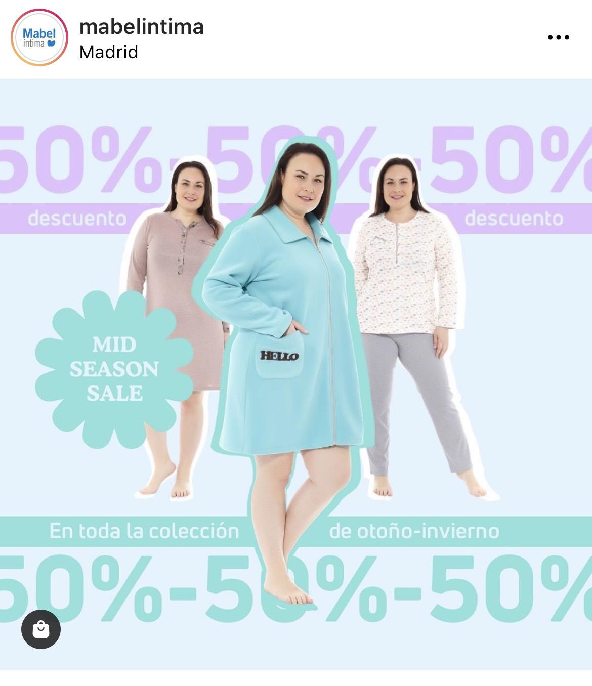 50% en Tallas Grandes - Mabel Íntima