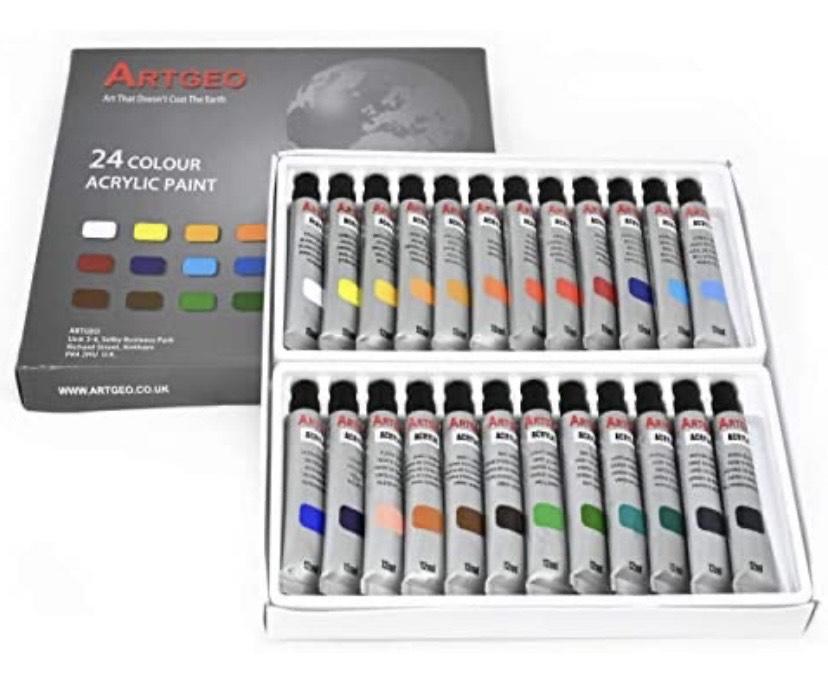 Artgeo Pintura acrílica 24 colores