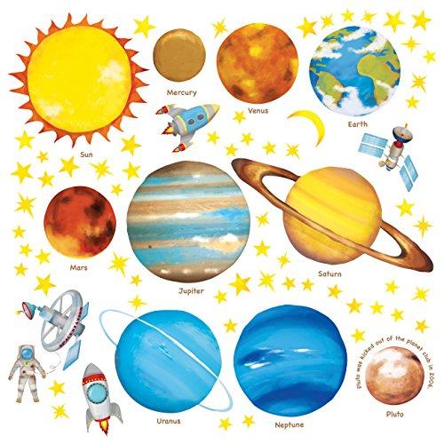 DECOWALL DS-8007 Planetas en el Espacio Vinilo Pegatinas Decorativas