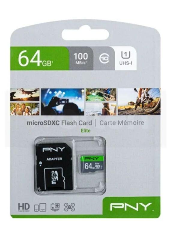 Tarjeta de Memoria Micro SD PNY Elite 64 GB