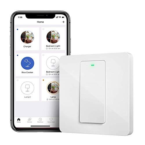 Interruptor de pared Meross [Compatible con Alexa, Google assistant y SmartThings]