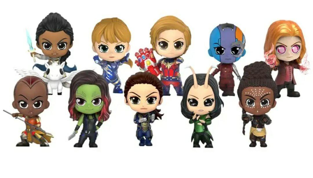 Set figuras heroínas. Vengadores: Endgame