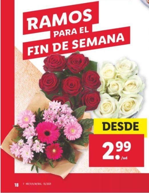 Ramo de flores desde 2,99€ en Lidl a partir del 17 de abril