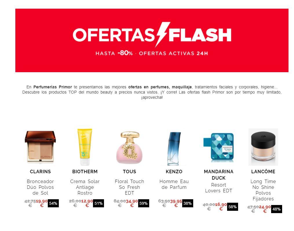 Ofertas flash PRIMOR (Hasta 80%)