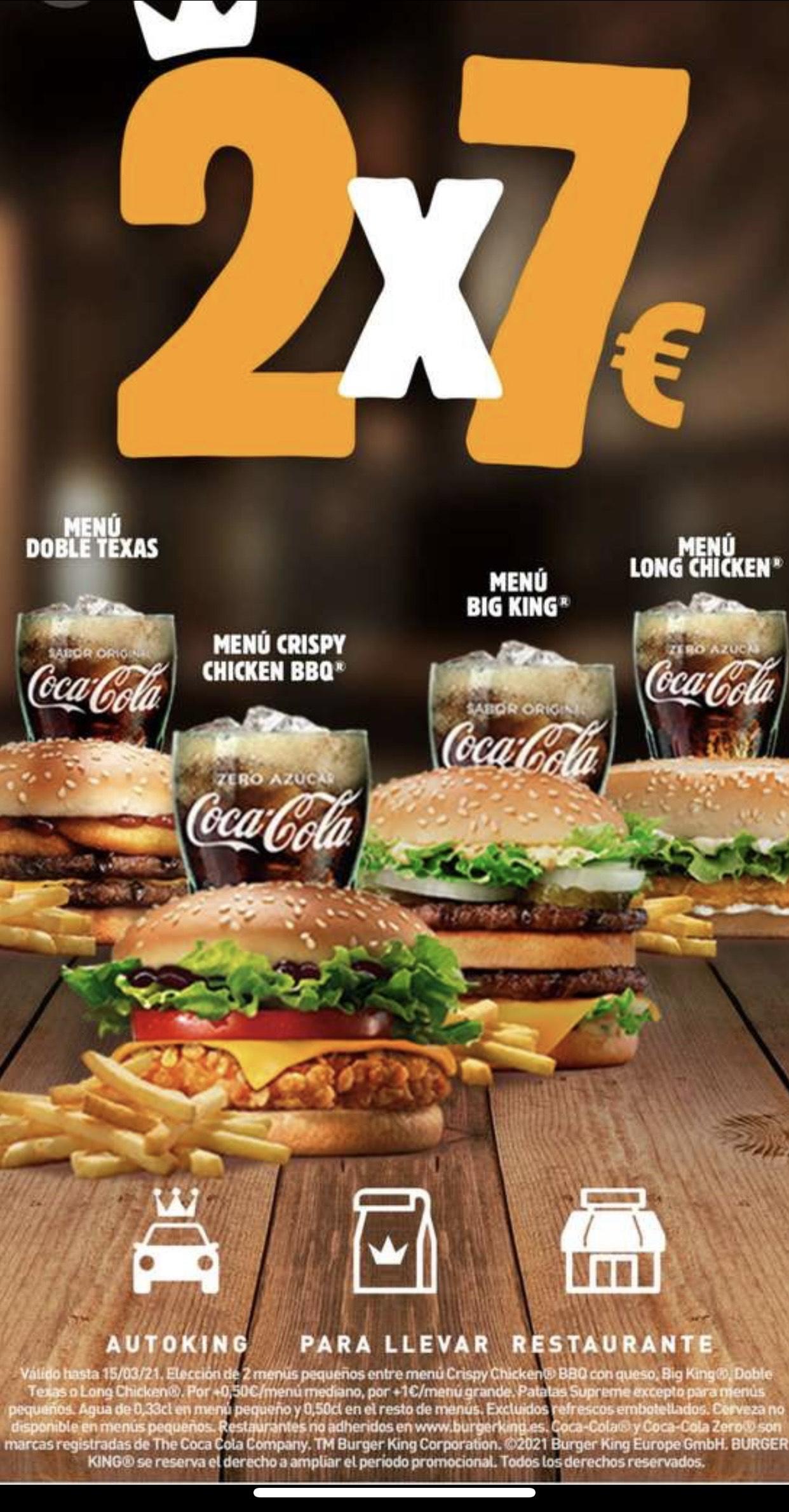 Vuelve 2x7 en burger king