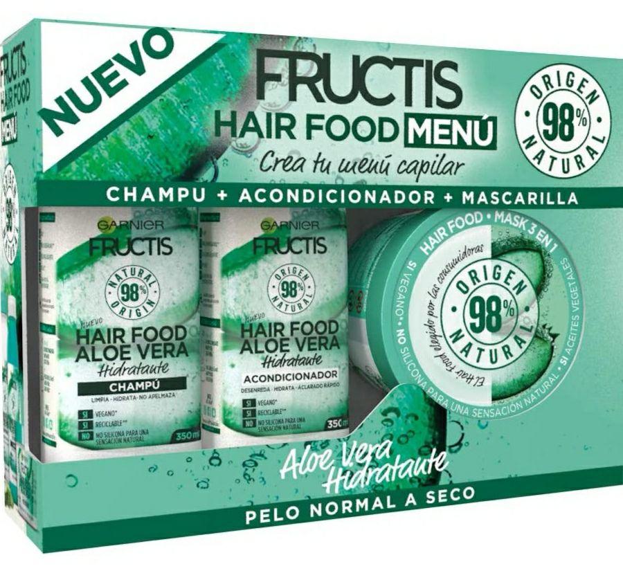 Pack Garnier Fructis Hair Food - Pack Champú + Acondicionador + Mascarilla