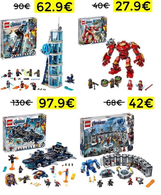 -30% en Lego vengadores desde 27.9€