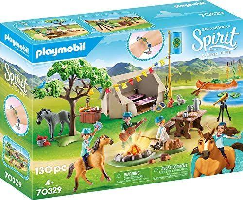 PLAYMOBIL DreamWorks Spirit - Campamento de Verano con Fortu y Spirit, A partir de 4 años