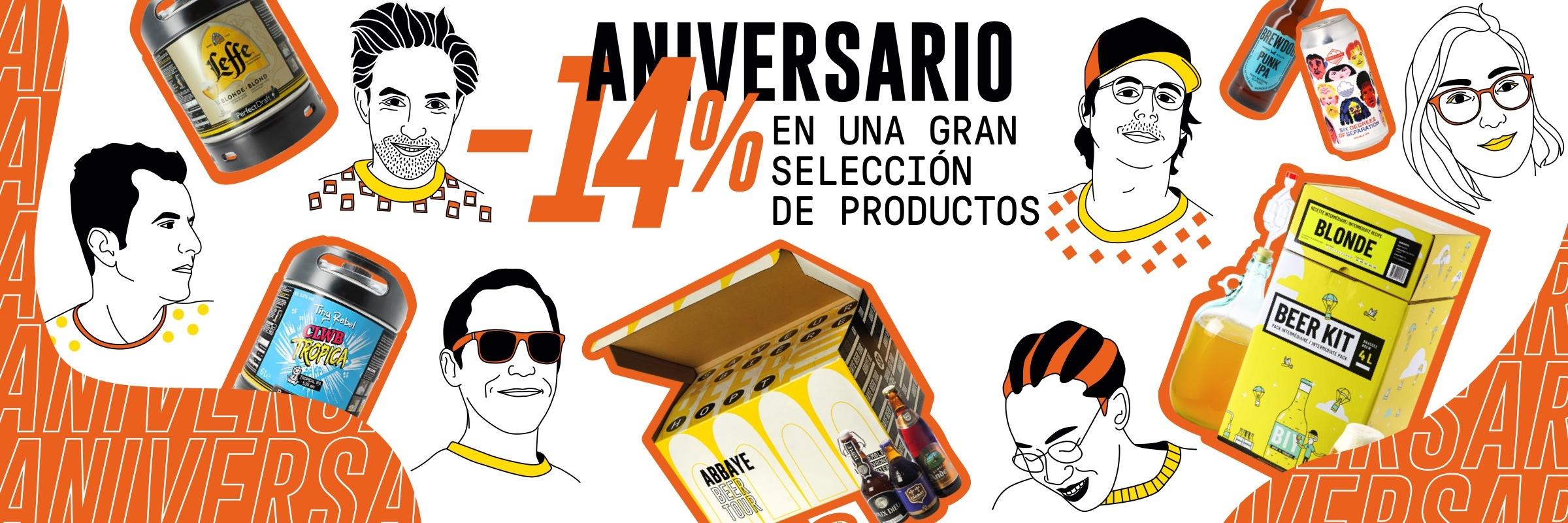 ANIVERSARIO HOPT: -14%* en una gran selección de productos.