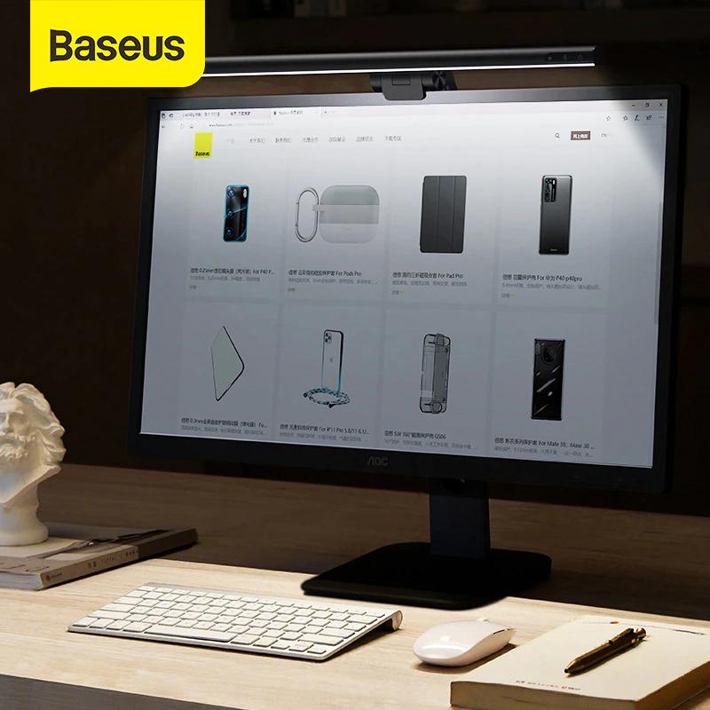 Lámpara LED REGULABLE fácil de instalar en el propio monitor.