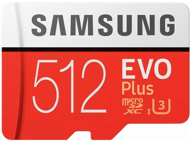 Tarjeta MicroSD 512 GB - Samsung EVO Plus 512 GB, 100MB/s lectura, 90 MB/s escritura, Clase 10, Blanco