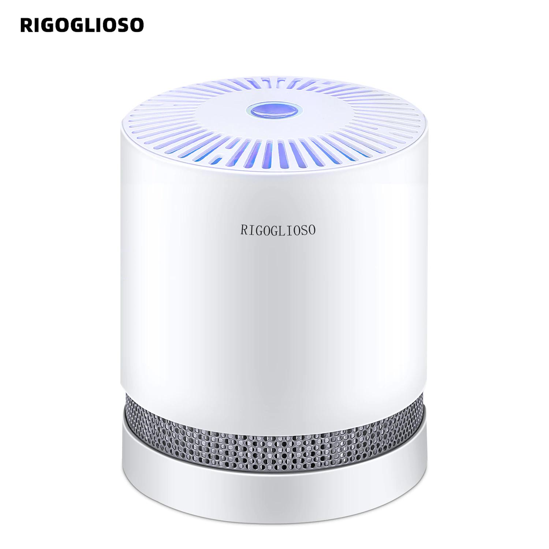 Rigoglioso-Purificador de aire para el hogar, purificadores de escritorio con filtros HEPA compactos, filtro con luz nocturna, GL2109