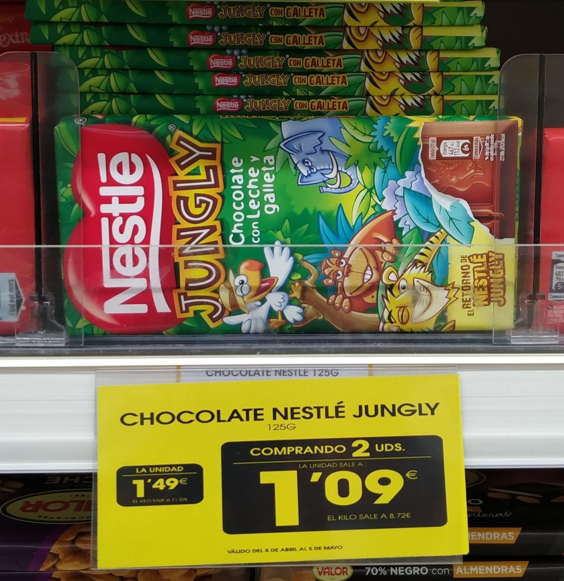 Nestlé Jungly a 1,09€/ud llevando 2