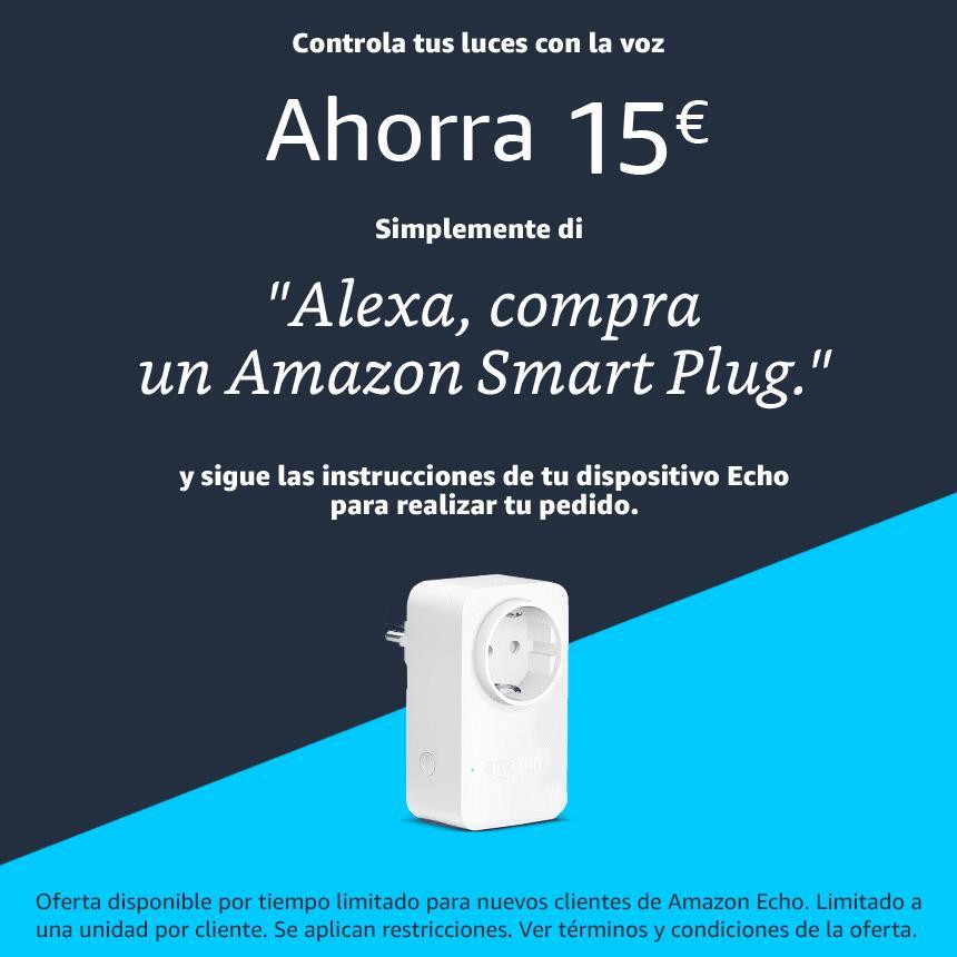 Descuento 15€ en Amazon Smart Plug para usuarios de Echo Dot