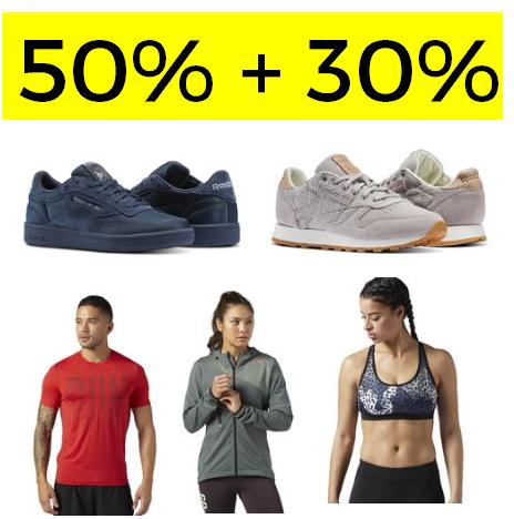 50% + 30% EXTRA EN REEBOK