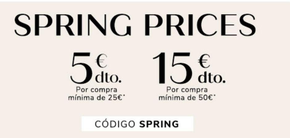 Descuento por compra en Women'Secret (-5€ por 25€ o - 15€ por 50€)