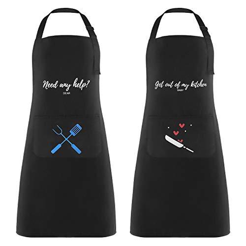 2 Piezas Delantales de Cocina Delantal Cocina