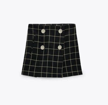 Falda pantalón de cuadros ZARA