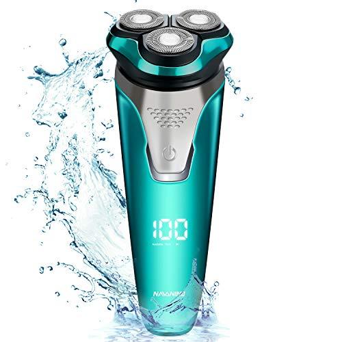 Afeitadora eléctrica en seco y húmedo para hombres