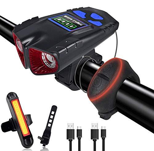 Luz de Bicicleta con Pantalla LED de Carga USB