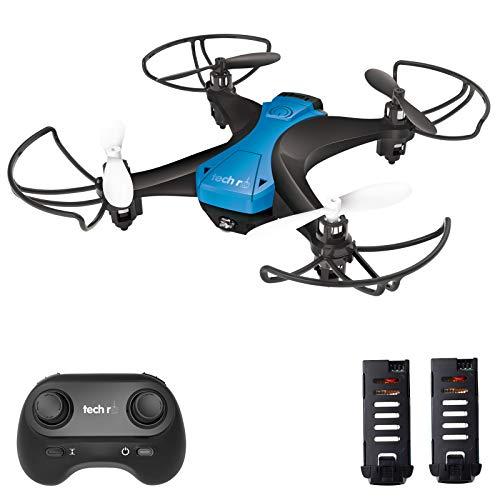 tech rc Mini Drone Fácil de Volar con Dos Baterías Función de Despegue